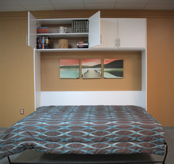 Grand View bed bookcase open