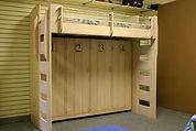 Beach theme murphy bed loft bunk