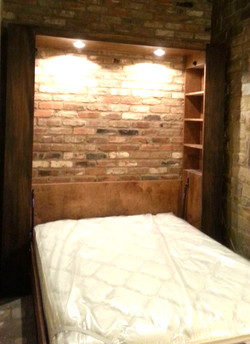 Gothic Arch murphy bed Open