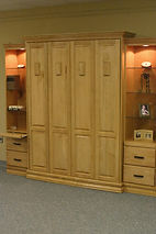 Murphy bed with raised panel front