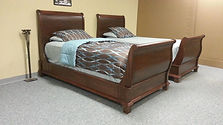 sleigh beds built in mahogany wood