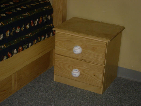 Baseball Nightstand
