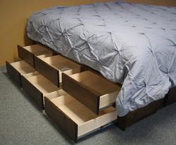 Platform Bed Drawers Open