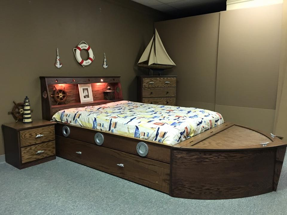Boat bed Oak