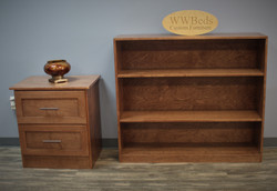 Keeley Nightstand and Bookcase Front