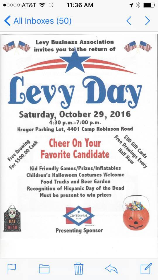 Levy Day Flyer