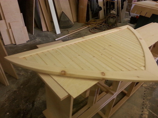 Bow lid ready for finish