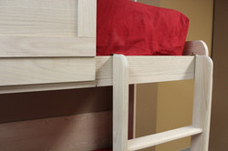 double bunk twin murphy bed ladder