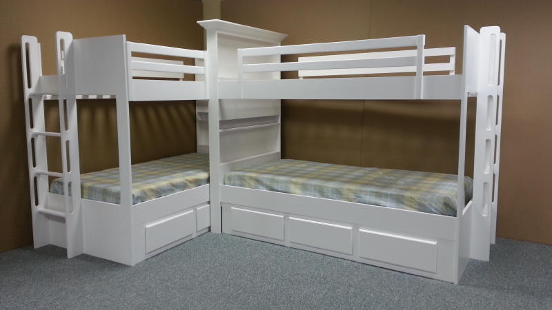Double bunk with Bookcase