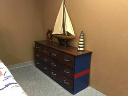 Nautical Dresser Blue and Red