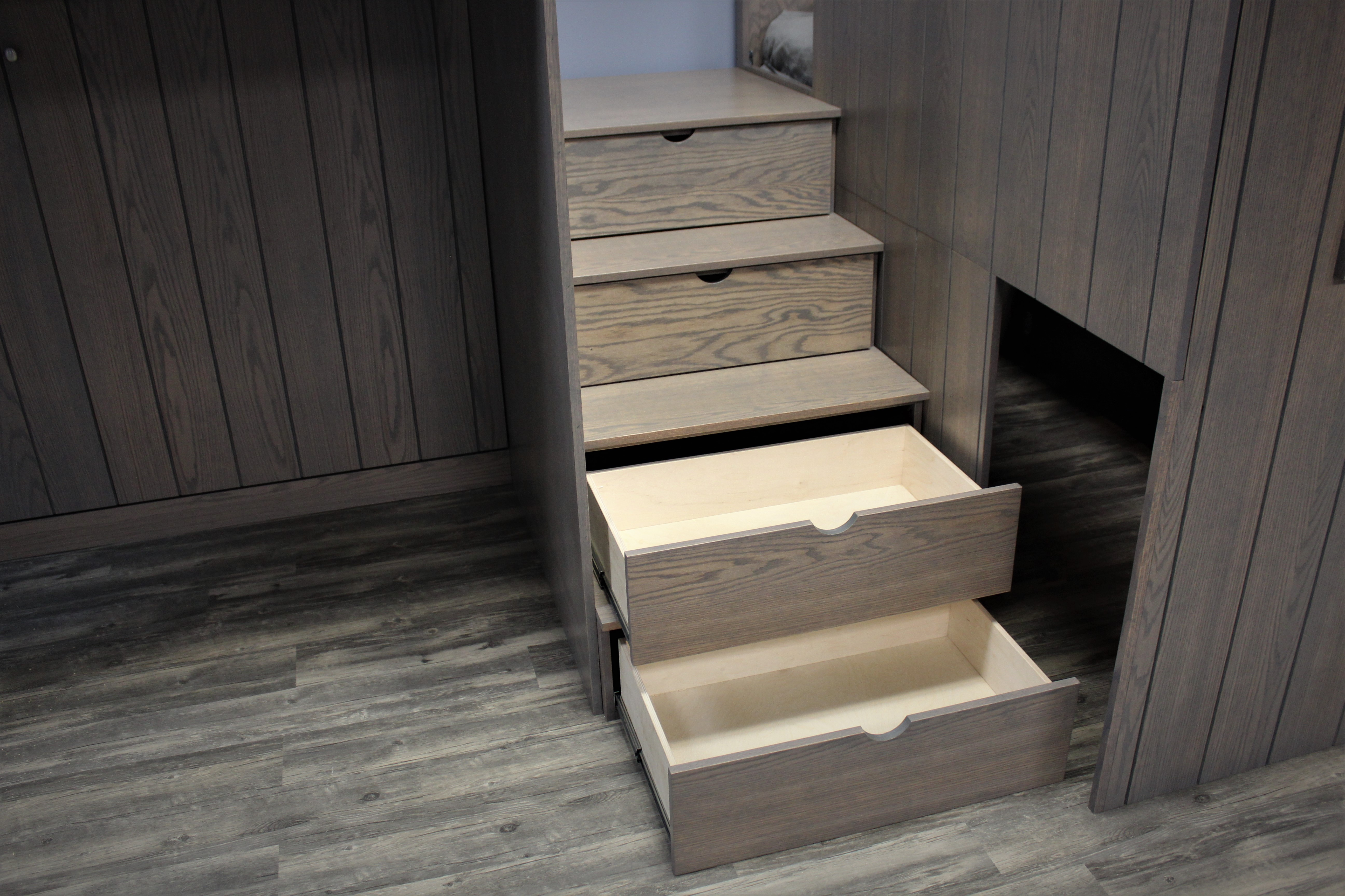 Loft Village  Stair Drawers