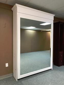 White Mirror with upper bookcase