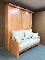Murphy bed with door front panel