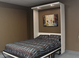 Murphy wall bed shown with the bed closed up.