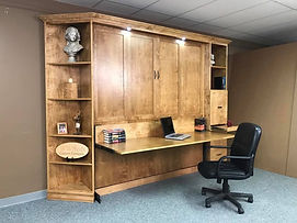 Templeton Murphy wall bed shown with the desk open
