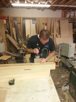 Cutting the mortise and tenon