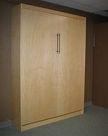 Contemporary murphy bed in two tone color