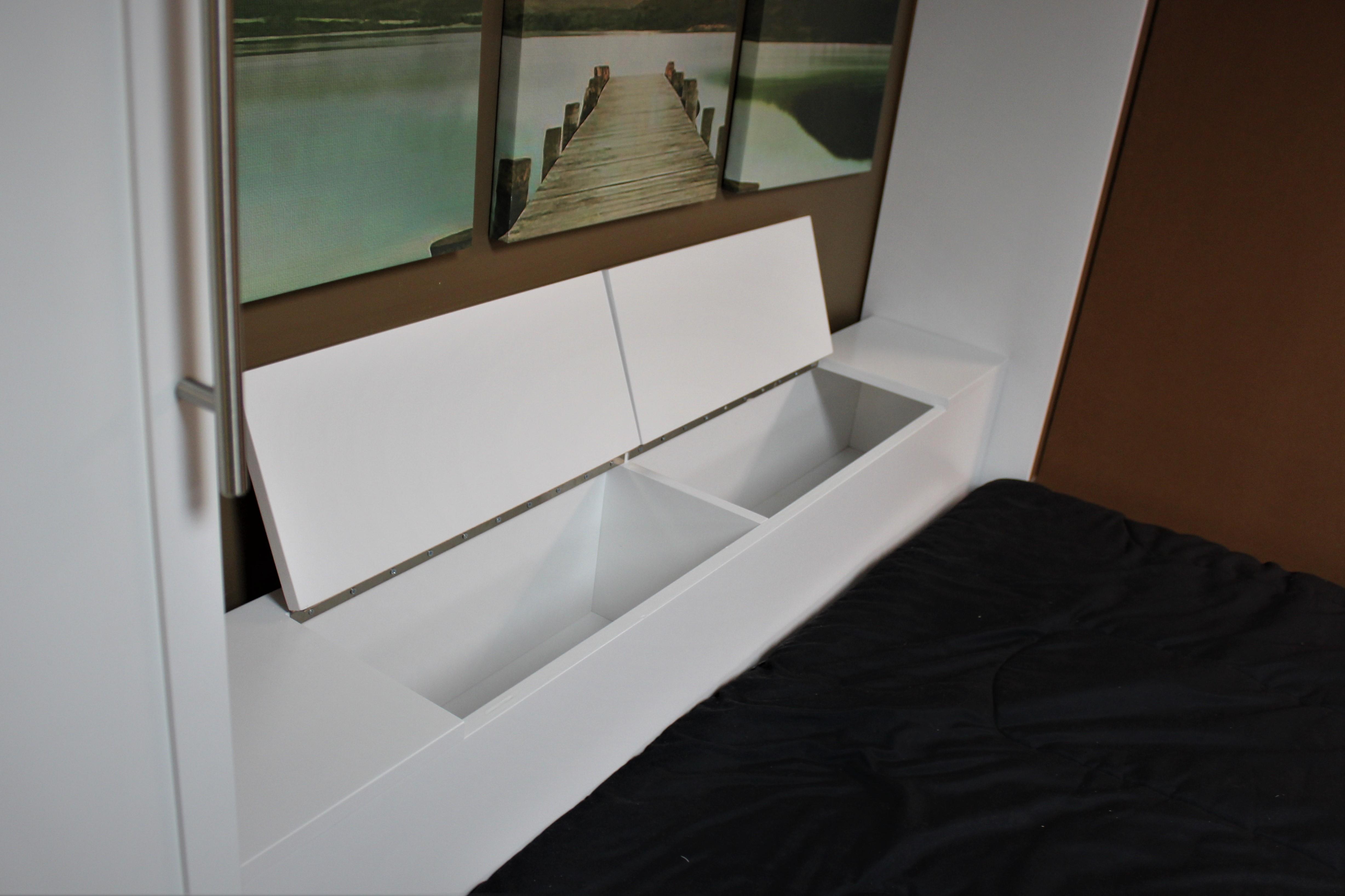 Lift Bed Headboard Open