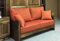 Wood Arm Sofa