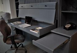 Barn Door Gray Desk Open 2