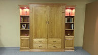 Murphy bed with two large doors as the face.