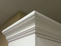 Large crown molding for murphy bed