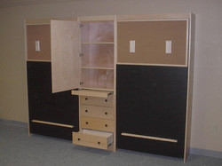 Pair of Twins Chalkboard Bed