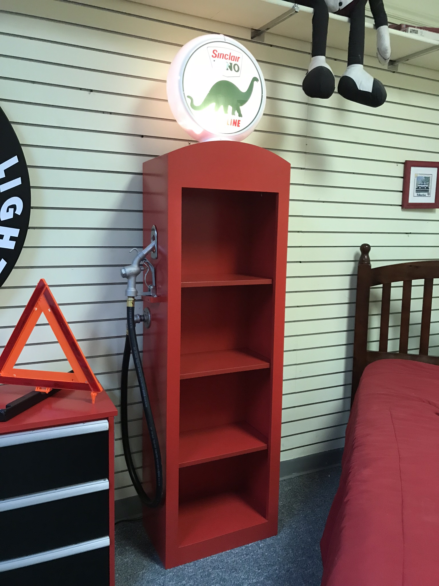 Gas Pump Bookcase