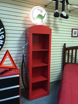 Gas Pump Bookcase