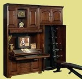 Bookcases that hold workout equipment