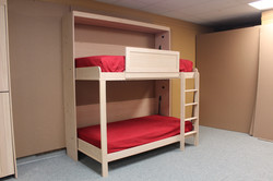 double bunk twin murphy bed side vi