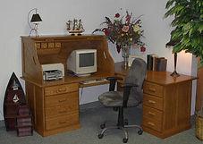 Corner desk in a roll top