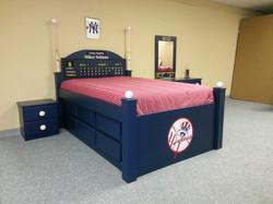 Baseball bed, drawers, trundle, logo