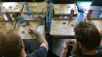 Pierogi workshop for Vikings in private home Krakow Poland.JPG