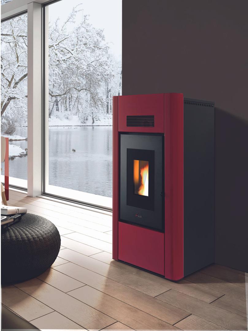 Cadel Prince wood pellet boiler for hot water and radiators