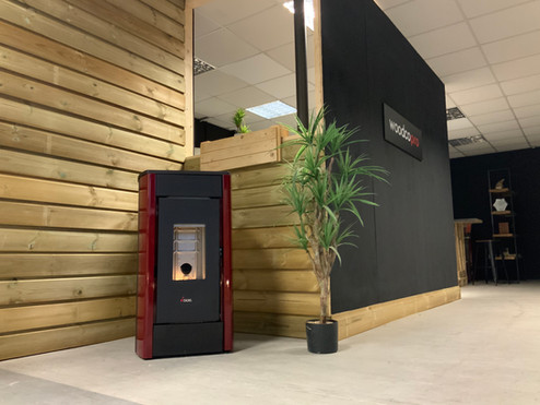 woodco pro's wood pellet stove showroom