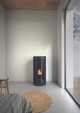 Shell 9.1kW wood pellet stove from woodco pro