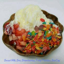Sweet Milk Sno, Strawberries, Fruity Pebbles, SnoCap - Copy.png