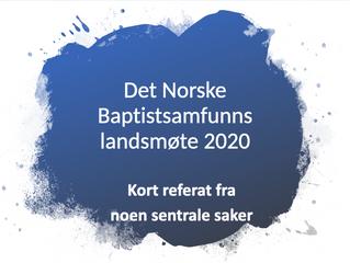 Det Norske Baptistsamfunns landsmøte 2020