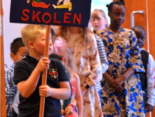 Søndagsskolens årsavslutning kombinert med menighets-kurvfest