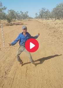 RFTTE member Chris Perry didn't have much of an audience in the dust and stillness round Burke and Wills Junction in Northern Queensland when he put these floating moves together