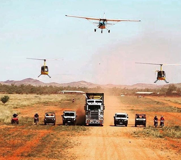 HOW'S this for a display of cattle station might, taken by Alex Mills, the Warrawagine mustering crew of 2008