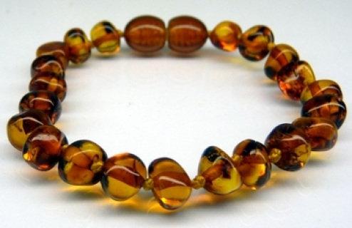 Baltic Amber Teething Bracelet - Cognac