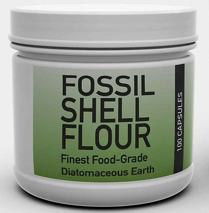 Diatomaceous Earth Fossil Shell Flour 100 Capsules