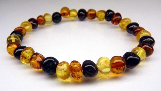 Baltic Amber Adult Bracelet - Multicolour