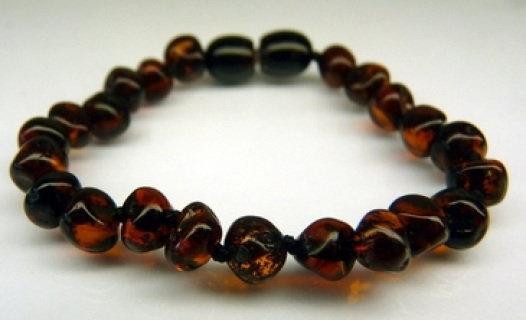 Baltic Amber Teething Bracelet - Cherry