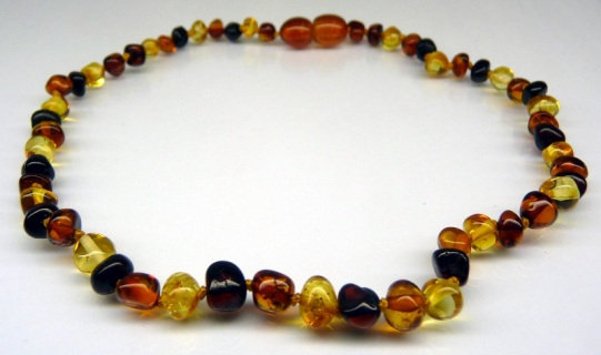 Baltic Amber Teething Necklace - Multicolour