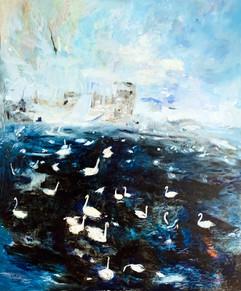 Swan Lake / Oil on canvas / 100 x 80 cm / 2021