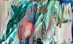 Atlantis is sinking / Mixed Media on canvas / 125 x 205cm / 2019