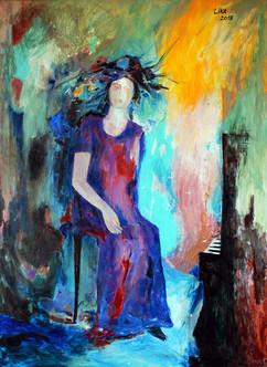 Clara Schumann / Acrylic on canvas / 100 x 73 cm / 2018